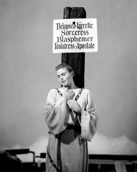 Arc Photograph - Ingrid Bergman In Joan Of Arc  by Silver Screen