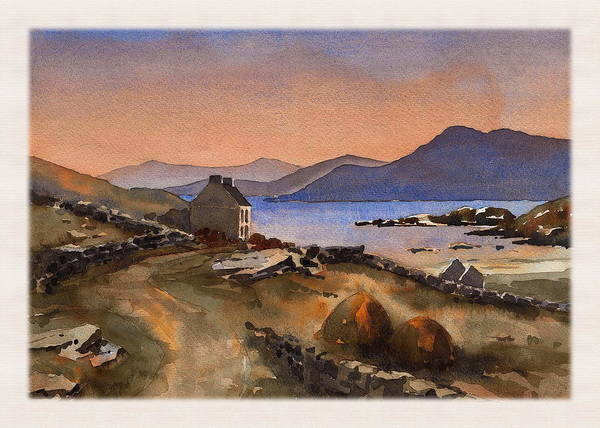 Mixed Media - Inisbofin Sunset by Val Byrne