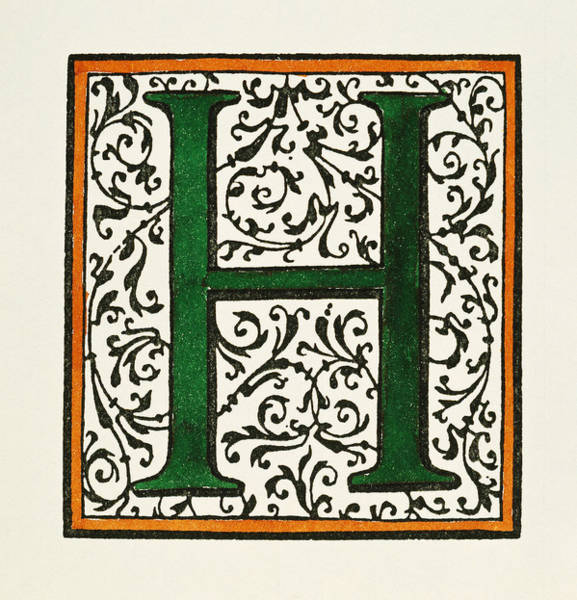 Painting - Initial 'h', C1600 by Granger