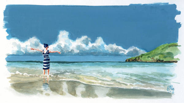 Wall Art - Painting - Inktober 16 Sea Joy by Ken Meyer