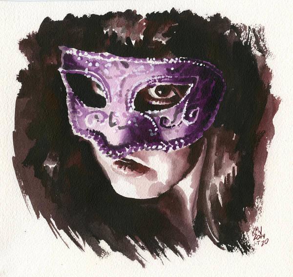 Wall Art - Painting - Inktober 20 Masked by Ken Meyer