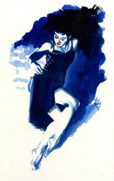 Wall Art - Painting - Inktober 3 Blue Summer by Ken Meyer