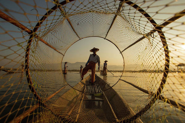 Wall Art - Photograph - Inle Fisherman by Gunarto Song