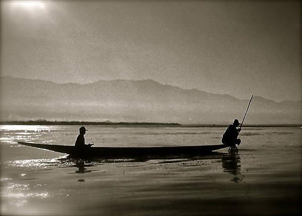Inle Fishermen Art Print