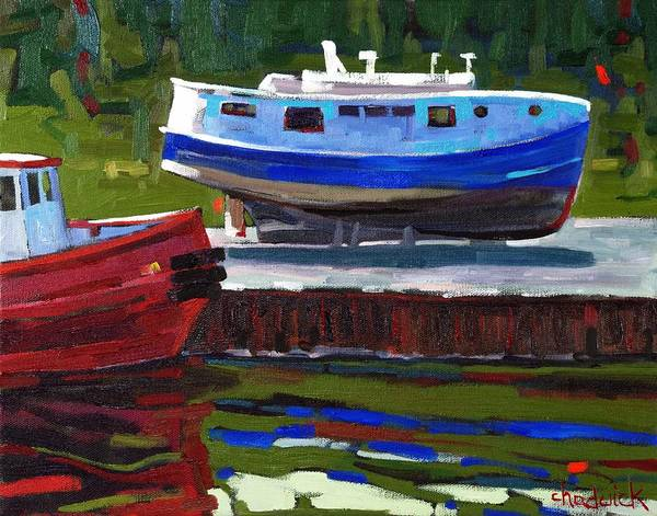 Lake Huron Painting - Inn For Repairs by Phil Chadwick