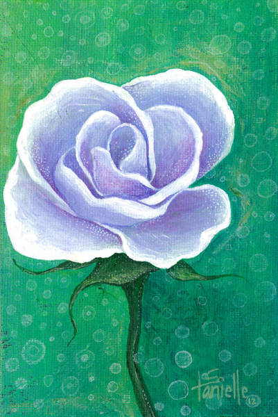 Single Rose Painting - Inner Beauty by Tanielle Childers