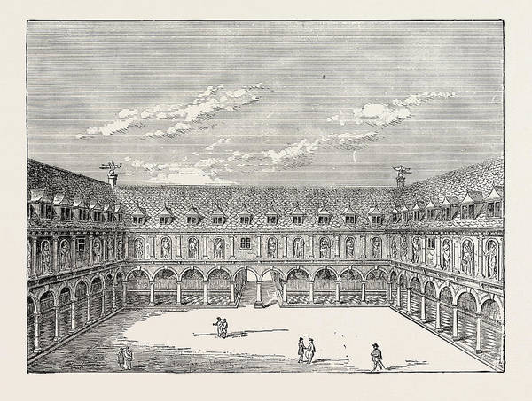 Royal Court Drawing - Inner Court Of The First Royal Exchange London by English School