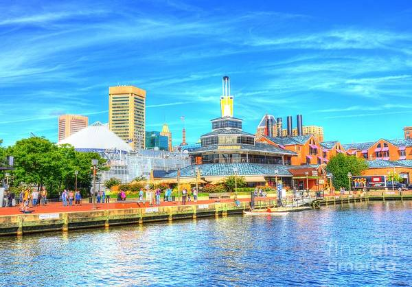 Wall Art - Photograph - Inner Harbor And Wtc by Debbi Granruth
