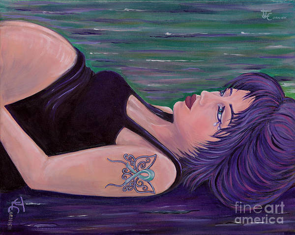 Pregnancy Painting - Inner Reflections by Janis  Cornish
