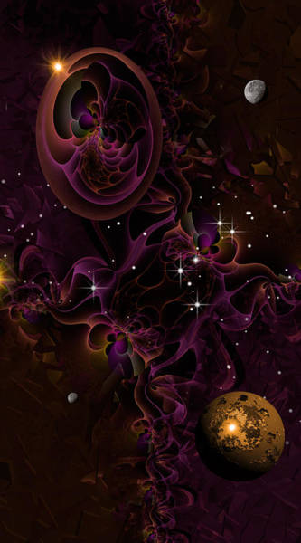Fractal Landscape Digital Art - Inner Voyage by Phil Sadler