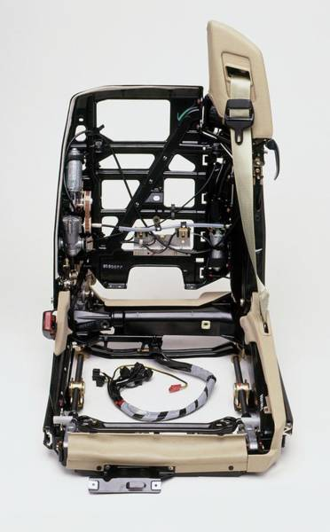 Cross-section Photograph - Inner Workings Of Electric Seat by Dorling Kindersley/uig