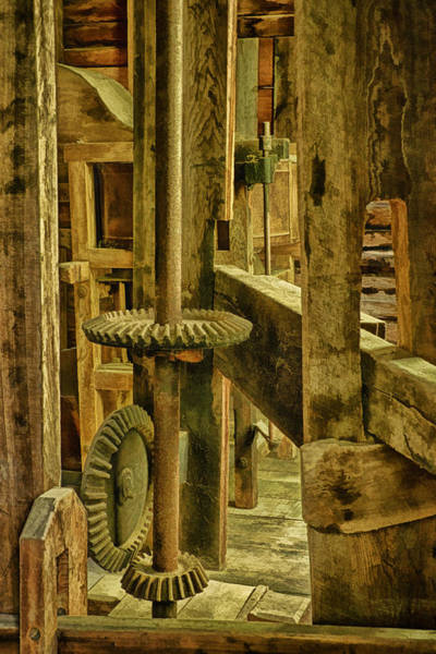 Millrace Wall Art - Photograph - Inner Workings Of Mingus Mill by Priscilla Burgers