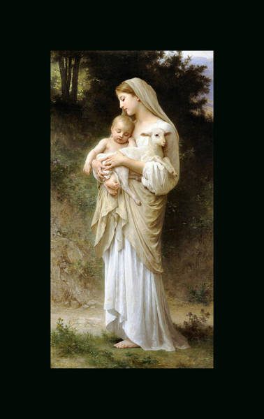 Painting - innocence Duvet by William Bouguereau