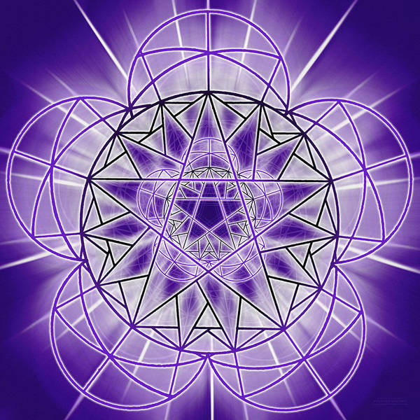 Sacred Geometry Drawing - In'phi'nity Star-map by Derek Gedney