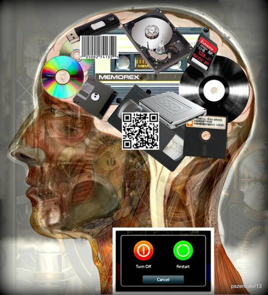 Barcode Digital Art - Input - Output - Processing And Storage Devices by Paulo Zerbato