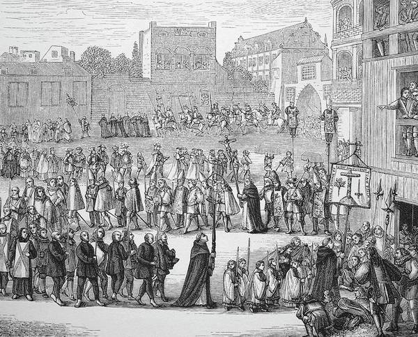 Procession Photograph - Inquisition Religious Procession by Bildagentur-online/th Foto/science Photo Library
