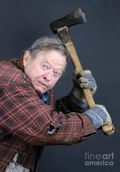 Axeman Wall Art - Photograph - Insane Old Man With Axe by Sylvie Bouchard