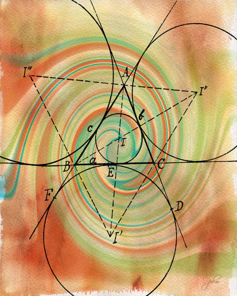 Digital Art - Inscribed Angle Theorem by Paulette B Wright