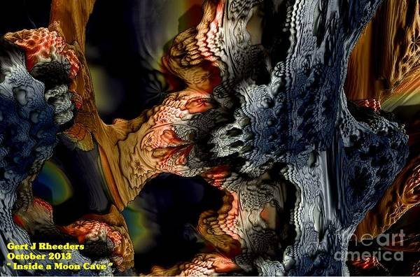 Special Offer Painting - Inside A Moon Cave. H A by Gert J Rheeders