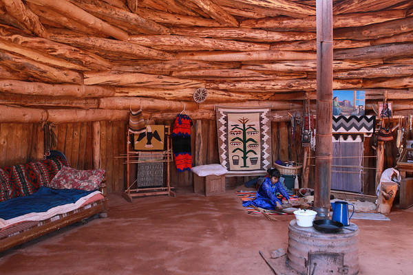 Photograph - Inside A Navajo Home by Diane Bohna