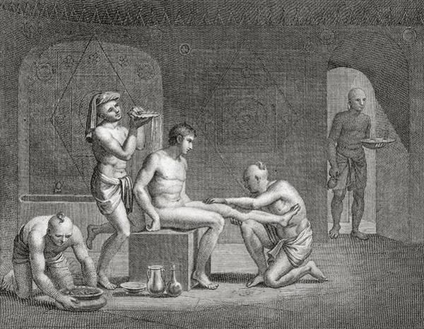 Egypt Drawing - Inside An Egyptian Bathhouse, C.1820s by Dominique Vivant Denon