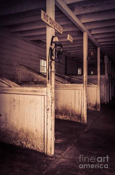 Corral Photograph - Inside An Old Horse Barn by Edward Fielding
