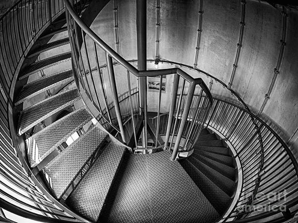 Photograph - Inside Edgartown Lighthouse 2 by Mark Miller