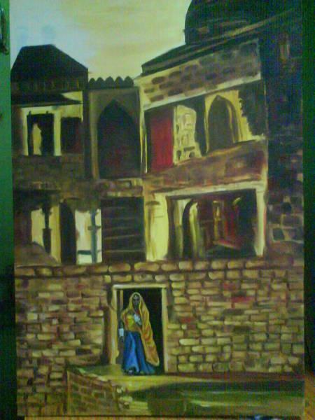 Wall Art - Painting - Inside Fort by Gayatri Maheshwari