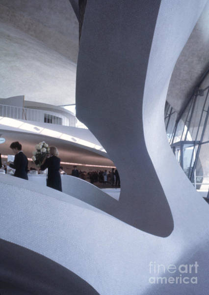 Googie Wall Art - Photograph - Inside Idlewild Airport Twa Terminal 1961 by The Harrington Collection