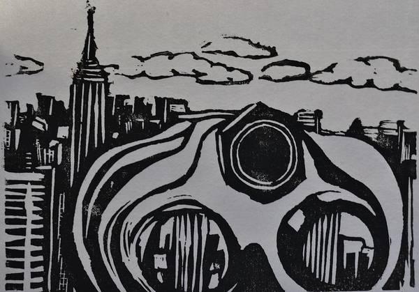 Linoleum Mixed Media - Inside Looking Out by Jocelyn  Miller