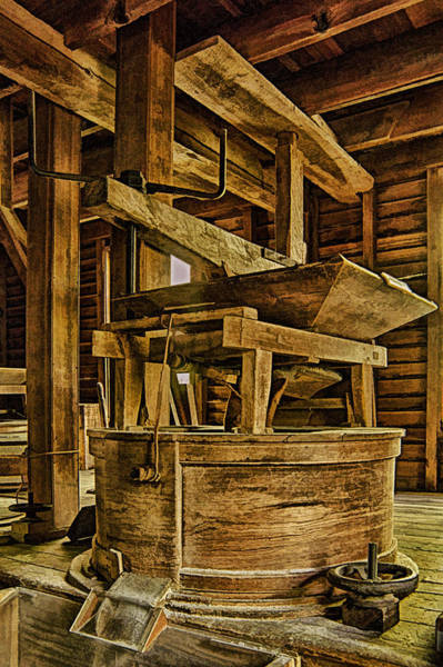 Millrace Wall Art - Photograph - Inside Mingus Grist Mill by Priscilla Burgers