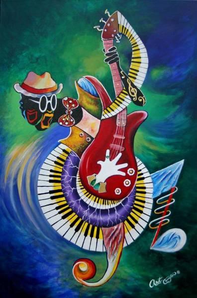 Jazz-funk Painting - Inside My Music V by Arthur Covington