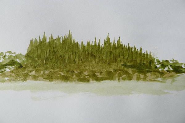 Inside Passage Islet Art Print