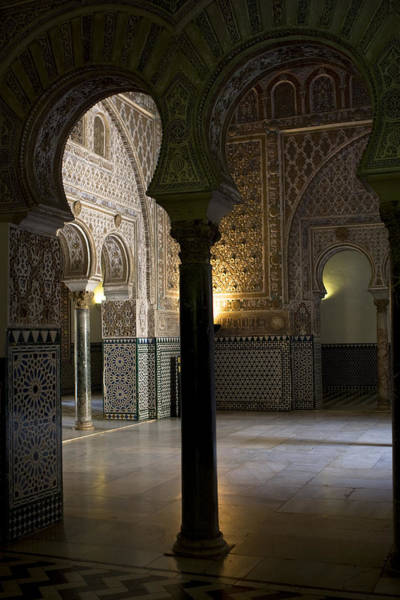 Inside The Alcazar Of Seville Art Print