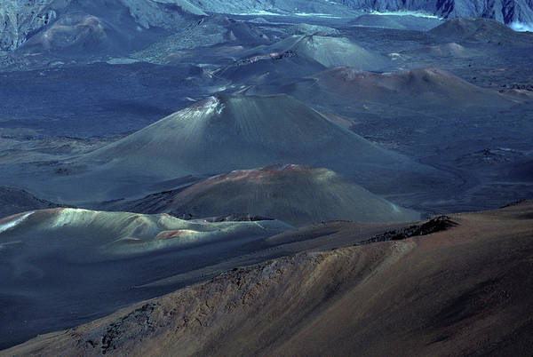 Haleakala Crater Photograph - Inside The Crater Of The Dormant by Arthur Meyerson