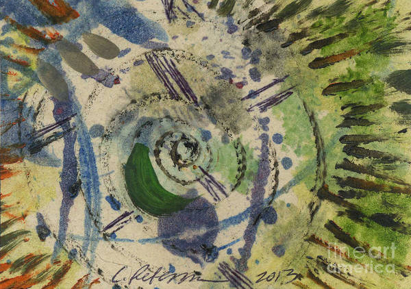 Atc Painting - Inside The Eye Of The Storm by Cathy Peterson