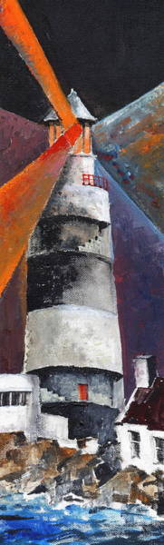 Painting - Inside The Hook Lighthouse by Val Byrne