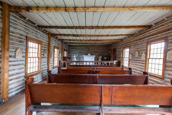 Photograph - Inside The Little Church - World Mining Museum by Fran Riley