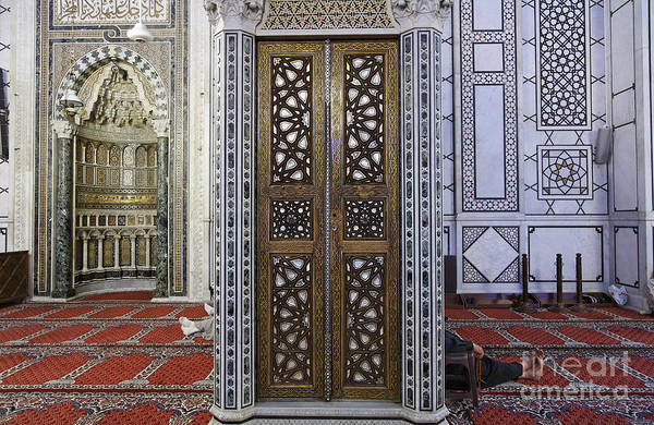 Damascus Photograph - Inside The The Umayyad Mosque Damascus Syria by Robert Preston