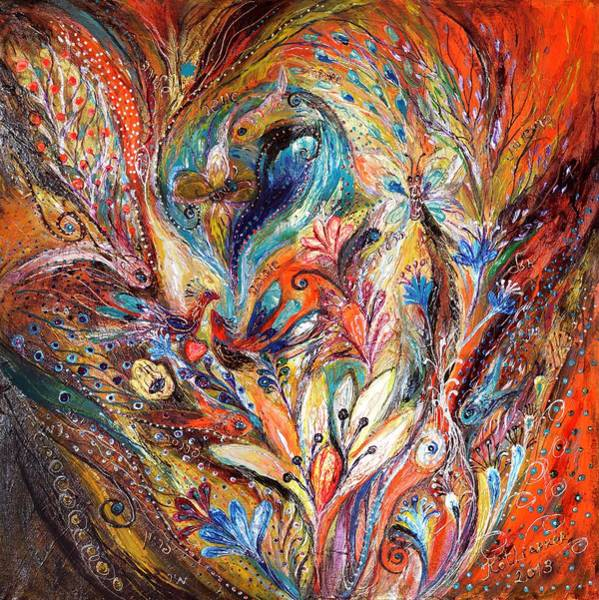 Wall Art - Painting - Inside The Vortex Of The Premonitions by Elena Kotliarker