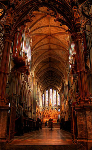 Photograph - Inside Worcester Catherdral by Sarah Broadmeadow-Thomas