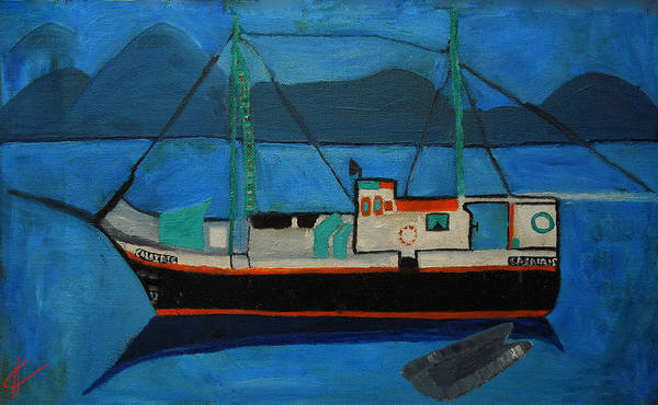 Painting - Inspiration From My Sayling Days On The Atlantic Oceon Maroc by Colette V Hera  Guggenheim