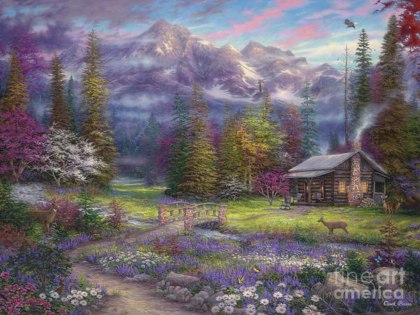 Wall Art - Painting - Inspiration Of Spring Meadows by Chuck Pinson