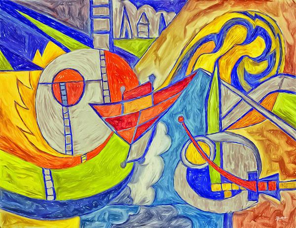 Digital Art - Inspired By Kandinsky by Steven Llorca