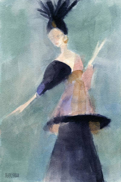Painting - Inspired By Paul Poiret Fashion Illustration Art Print by Beverly Brown