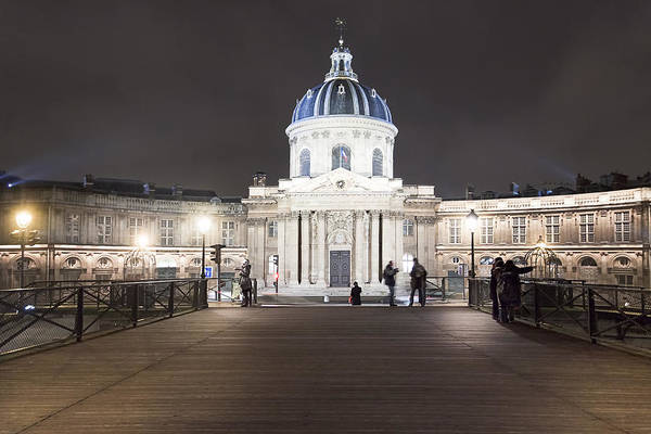 Photograph - Institut De France - Parisian Night Scene by Mark E Tisdale