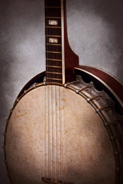Fret Board Photograph - Instrument - String - A Typical Banjo  by Mike Savad