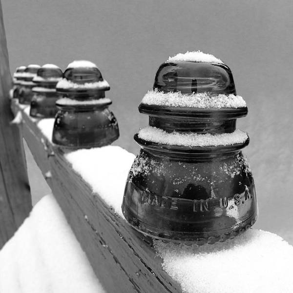 Glass Insulator Photograph - Insulated In Mono by Richard Reeve