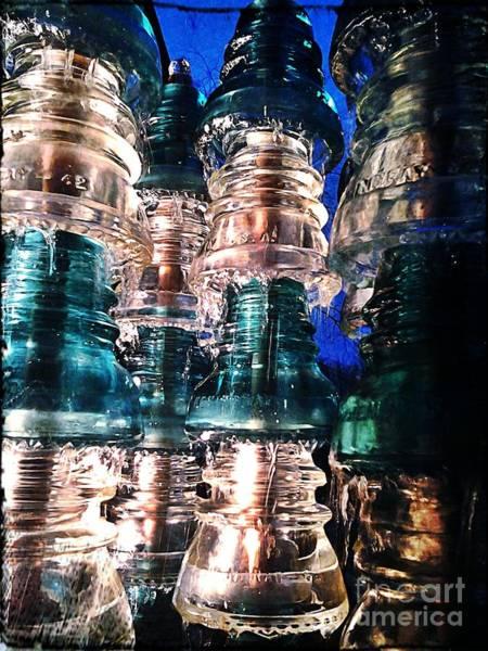 Glass Insulator Photograph - Insulator Fountain by Collin Allen