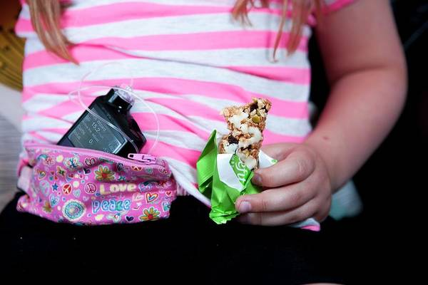 Pump Photograph - Insulin Pump And Eating In Diabetes by Lewis Houghton/science Photo Library